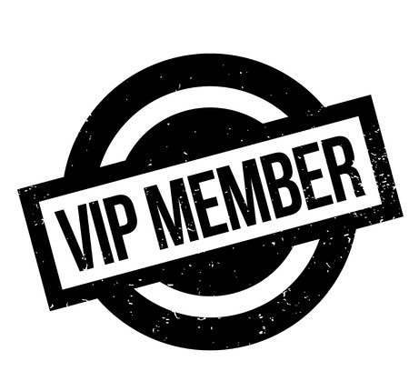 restricted area: Vip Member rubber stamp