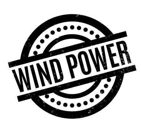 Wind Power rubber stamp
