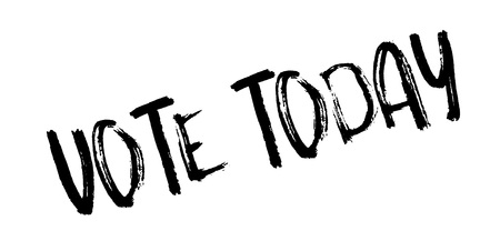 ministry: Vote Today rubber stamp Illustration
