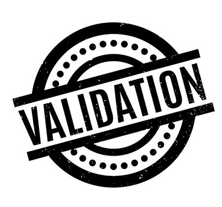 Validation rubber stamp Illustration