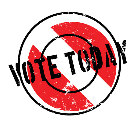 ministry: Vote Today rubber stamp. Grunge design with dust scratches. Effects can be easily removed for a clean, crisp look. Color is easily changed.