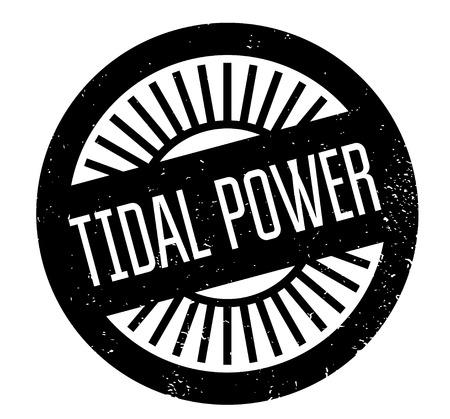 Tidal Power rubber stamp Фото со стока - 83696921