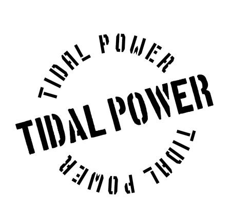 Gezeiten Power Stempel Standard-Bild - 83696951
