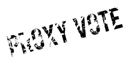 Proxy Vote rubber stamp 向量圖像