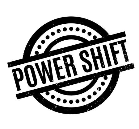 Power Shift rubber stamp Illustration