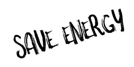 hydroelectricity: Save Energy rubber stamp Illustration