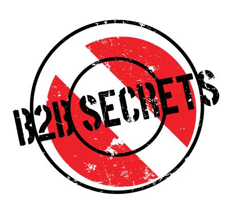 B2b Secrets rubber stamp Illustration