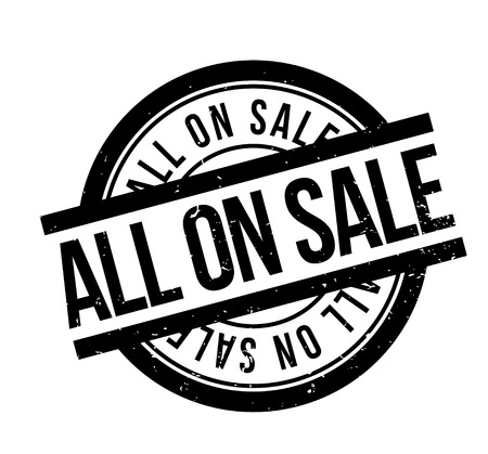 All On Sale rubber stamp