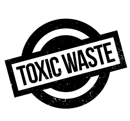 contamination: Toxic Waste rubber stamp Illustration