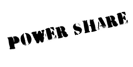 Power Share rubber stamp