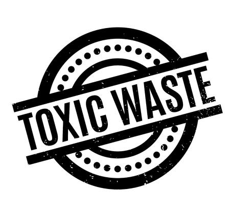 Toxic Waste rubber stamp Illustration