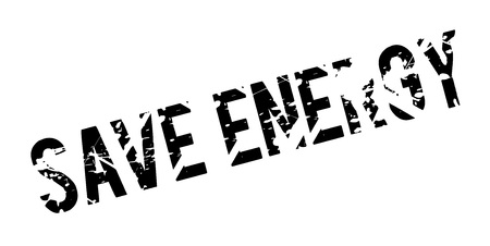 Save Energy rubber stamp Illustration