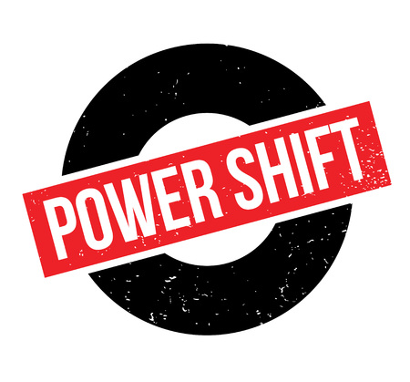 Power Shift rubber stamp