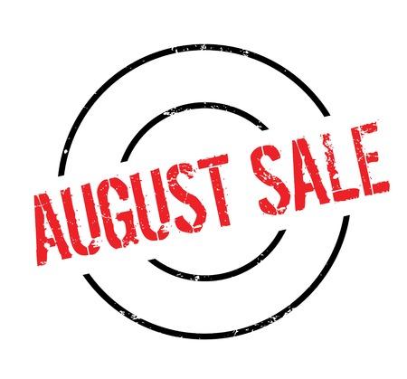August Sale rubber stamp Illustration