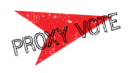 Proxy Vote rubber stamp Illustration