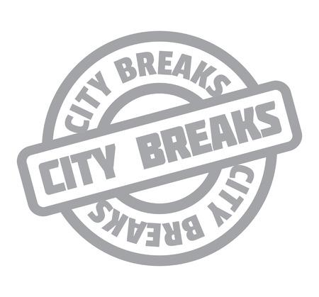 City Breaks rubber stamp