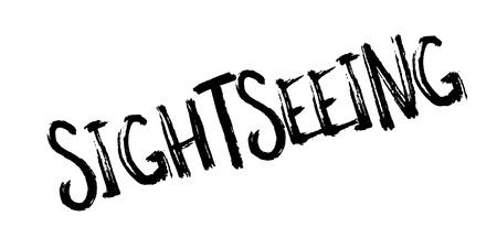 Sightseeing rubber stamp Illustration