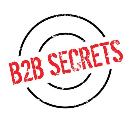 b2b: B2b Secrets rubber stamp Illustration