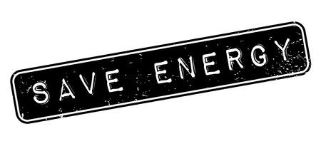 Energie rubberen stempel opslaan Stock Illustratie
