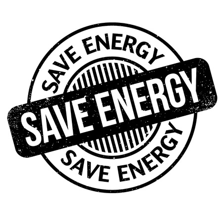 Save Energy rubber stamp Illustration