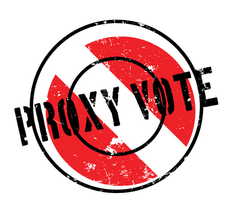 Proxy Vote rubber stamp Illustration