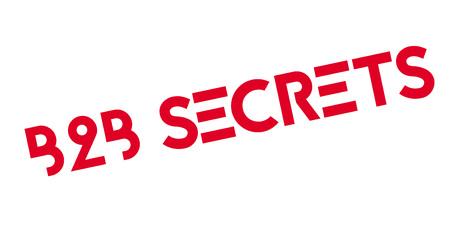 b2b secrets timbre en caoutchouc Vecteurs