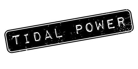 Gezeiten Power Stempel Standard-Bild - 83697887