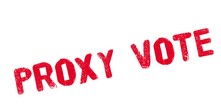 local council election: Proxy Vote rubber stamp Illustration
