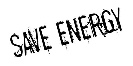 Save Energy rubber stamp Иллюстрация
