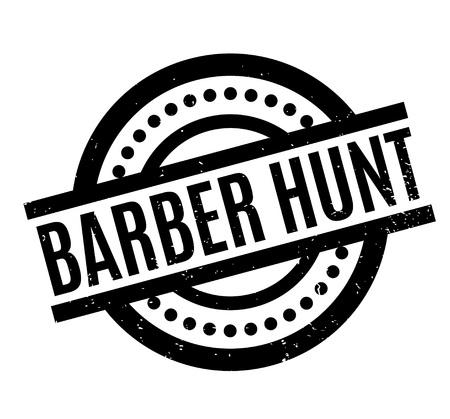 Barber Hunt rubber stamp