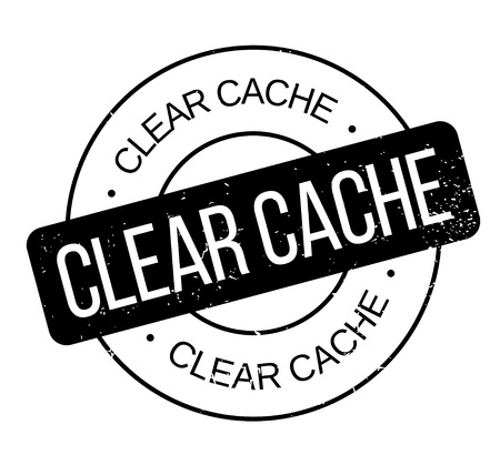 accrue: Clear Cache rubber stamp. Grunge design with dust scratches. Effects can be easily removed for a clean, crisp look. Color is easily changed.