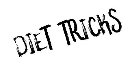 resolution: Diet Tricks rubber stamp