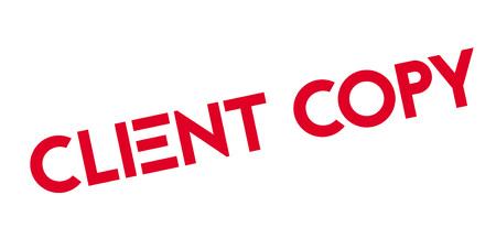 patron: Client Copy rubber stamp