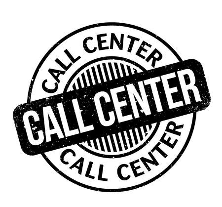 grungy: Call Center rubber stamp