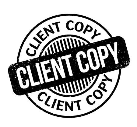 Client Copy rubber stamp Stok Fotoğraf - 83832244