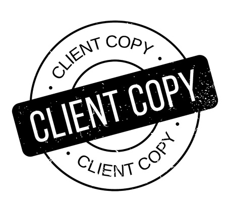 Client Copy rubber stamp