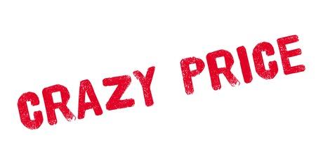 lunatic: Crazy Price rubber stamp Illustration