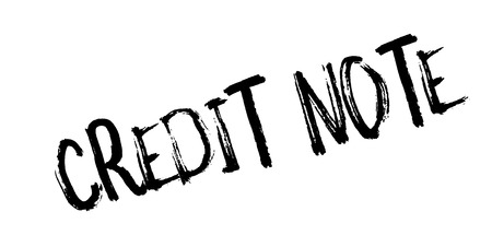 beforehand: Credit Note rubber stamp