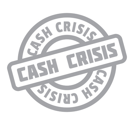 Cash Crisis rubber stamp