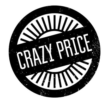 Crazy Price rubber stamp Illustration