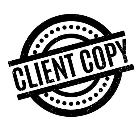 facsimile: Client Copy rubber stamp