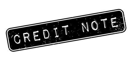 Credit Note Rubberstempel Stock Illustratie