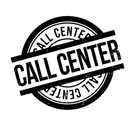 Call Center rubber stamp