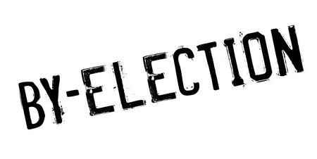 By-Election rubber stamp. Grunge design with dust scratches. Effects can be easily removed for a clean, crisp look. Color is easily changed. Illustration
