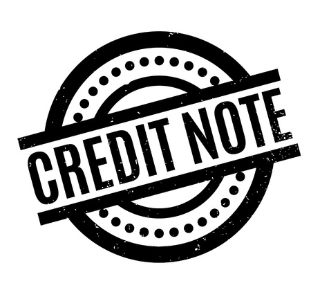 Credit Note rubber stamp. Grunge design with dust scratches. Effects can be easily removed for a clean, crisp look. Color is easily changed. Illustration