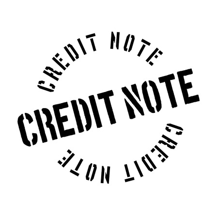 beforehand: Credit Note rubber stamp. Grunge design with dust scratches. Effects can be easily removed for a clean, crisp look. Color is easily changed. Illustration