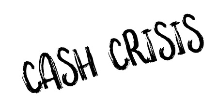 Cash Crisis rubber stamp. Grunge design with dust scratches. Effects can be easily removed for a clean, crisp look. Color is easily changed. Stock Vector - 83771895