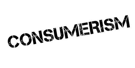 Consumerism rubber stamp. Ilustração