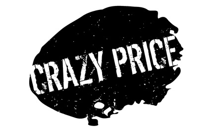 Crazy Price rubber stamp. Illustration