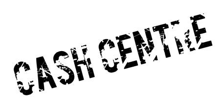 Cash Centre rubber stamp.